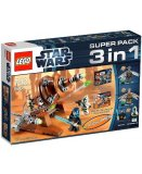 LEGO STAR WARS EXCLUSIVITE 66431 SUPER PACK 3 EN 1