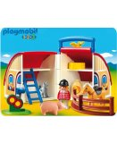 PLAYMOBIL 1.2.3 6778 FERME TRANSPORTABLE