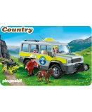 PLAYMOBIL COUNTRY 5427 VEHICULE AVEC SECOURISTES DE MONTAGNE