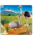 PLAYMOBIL SAFARI 4831 COUPLE D'AUTRUCHES ET LE NID