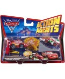 VEHICULES CARS 2 ACTION AGENTS + PROPULSEUR - FRANCESCO BERNOULLI ET FLASH MCQUEEN - MATTEL - V4248
