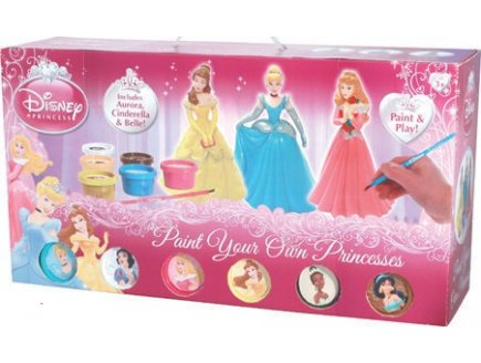 3 figurines disney princesse peindre coffret de - Peinture princesse disney ...