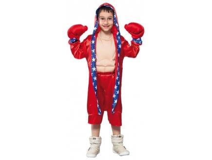 d guisement boxeur am ricain rocky rouge enfant 10 ans pas. Black Bedroom Furniture Sets. Home Design Ideas