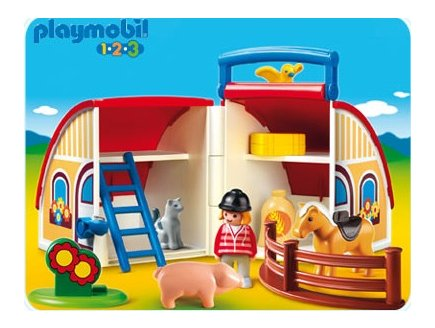 playmobil 123 6778 coffret ferme picture to pin on. Black Bedroom Furniture Sets. Home Design Ideas