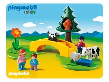 playmobil 123 playmobil 6788 famille avec animaux. Black Bedroom Furniture Sets. Home Design Ideas