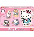 5 PUZZLES PROGRESSIFS HELLO KITTY 3 - 5 PIECES - EDUCA - 14508