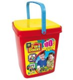 BARIL FUN BRICKS 100 PIECES - JEU DE CONSTRUCTION AVEC PICOTS - 1237
