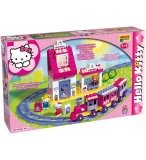 CIRCUIT DE TRAIN ET GARE HELLO KITTY - JEU DE CONSTRUCTION - BIG
