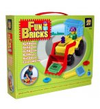COFFRET FUN BRICKS BULLDOZER - JEU DE CONSTRUCTION AVEC PICOTS - 6223