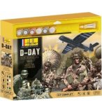 COFFRET THEMATIQUE D DAY AIR ASSAULT MAQUETTES 3 MODELES - ECHELLE 1/72 - HELLER - 52313