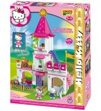 GRAND CHATEAU HELLO KITTY PRINCESSE - UNICO PLUS - 8676 - JEU DE CONSTRUCTION