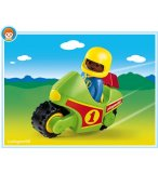 PLAYMOBIL 1.2.3 6719 ENFANT / MOTO DE COURSE
