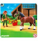 PLAYMOBIL CENTRE EQUESTRE 5108 CHEVAL SHIRE