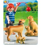 PLAYMOBIL FERME 5209 FAMILLE DE GOLDEN RETRIEVERS