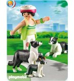 PLAYMOBIL FERME 5213 FAMILLE DE BORDER COLLIES