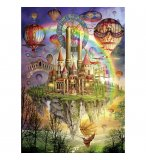 PUZZLE AU PAYS DE L'ARC EN CIEL 1000 PIECES - COLLECTION CHATEAU - SCHMIDT - 58158