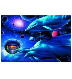 PUZZLE DAUPHIN : COSMIC VOYAGERS 1000 PIECES - COLLECTION BLUE OCEAN - NATHAN - 874149