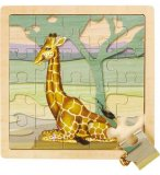 PUZZLE EN BOIS GIRAFE 20 PIECES - WILD REPUBLIC - 66881