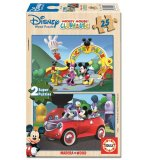 PUZZLE EN BOIS MAISON DE MICKEY 2 X 25 PIECES - EDUCA - 13470