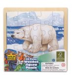 PUZZLE EN BOIS OURS POLAIRE 20 PIECES - WILD REPUBLIC - 88023