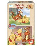PUZZLE EN BOIS WINNIE L'OURSON 2 X 9 PIECES - EDUCA - 14955