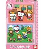 PUZZLE HELLO KITTY 2 X 48 PIECES - EDUCA - 14220