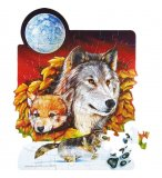 PUZZLE LOUPS 50 PIECES - WILD REPUBLIC - 81608