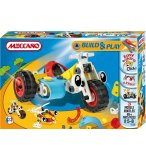 SIDE CAR MECCANO BUILD AND PLAY - 3 MODELES - MOTO - JEU DE CONSTRUCTION - 734120