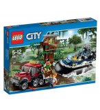 LEGO CITY EXCLUSIVITE 60071 L'ARRESTATION EN HYDROGLISSEUR