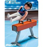 PLAYMOBIL ATHLETES 5192 GYMNASTE ET CHEVAL D'ARCONS