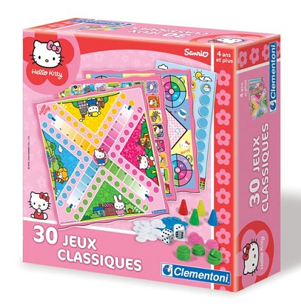 coffret de 30 jeux hello kitty achat jeux de soci t enfant 4 ans mallette de jeux hello kitty p. Black Bedroom Furniture Sets. Home Design Ideas
