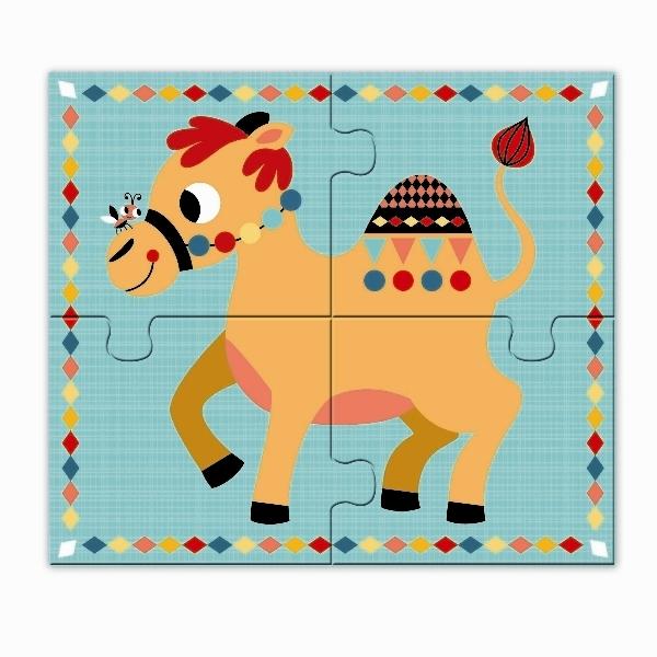 des jouets > Puzzles > Moins de 30 pièces > 4 PUZZLES EN BOIS ANIMAU ~ Puzzle Animaux Bois