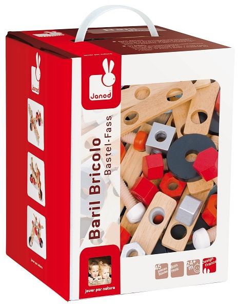 baril avec pi ces en bois accessoires outils en bois. Black Bedroom Furniture Sets. Home Design Ideas