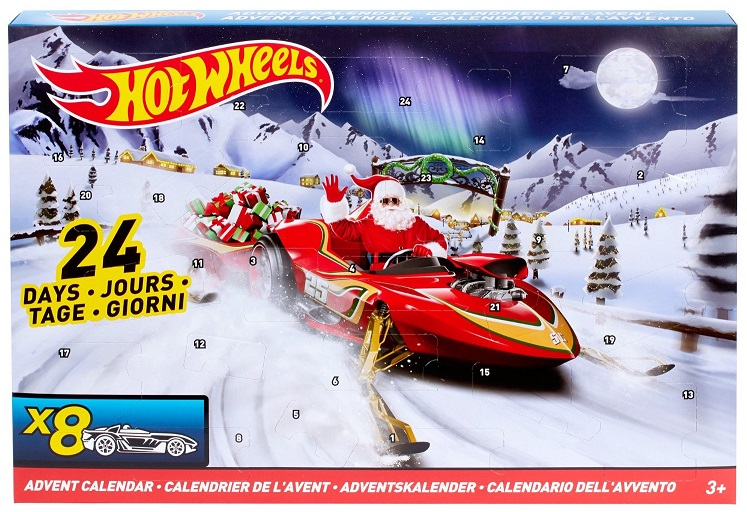 calendrier de l avent hot wheels v hicules miniatures. Black Bedroom Furniture Sets. Home Design Ideas