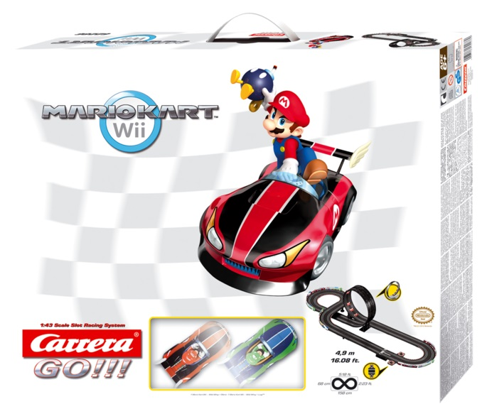 Carrera go circuit mario kart wii 1 43 caverne des jouets - Mario kart wii voiture ...