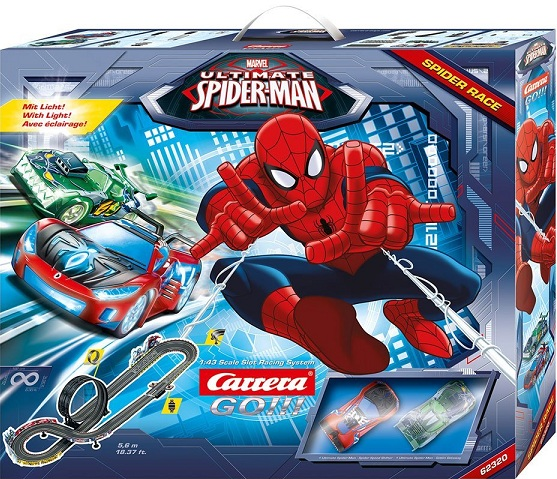 Carrera go circuit spider race spider man 62320 kit complet 1 43e - Spiderman voiture ...