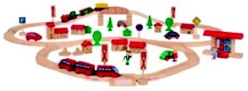 Coffret chemin de fer eichhorn, Circuit train bois avec  ~ Train Bois Electrique
