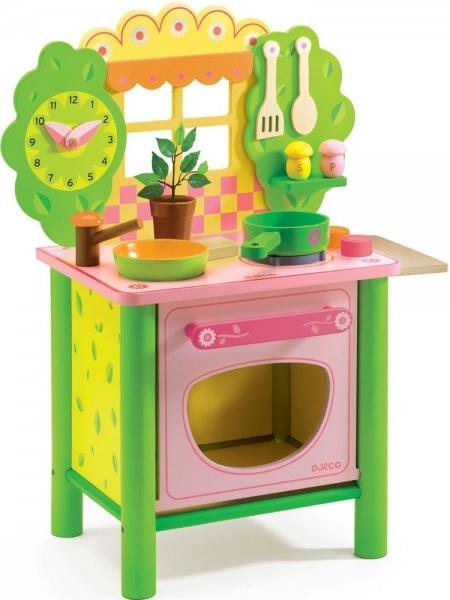 cuisini re en bois djeco achat cuisine enfant en bois jouet cuisine avec four. Black Bedroom Furniture Sets. Home Design Ideas