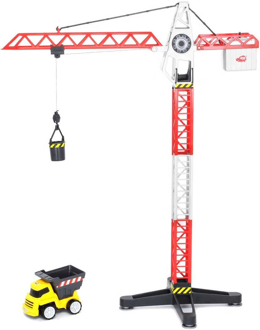 Grue de chantier camion benne jouet enfant dickie buiding team - Coloriage de grue de chantier ...