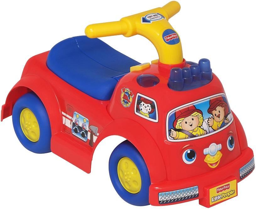 porteur fisher price camion de pompier rouge little people. Black Bedroom Furniture Sets. Home Design Ideas