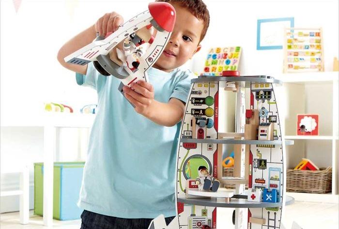 centre de d couverte spatiale fus e jouet bois hape. Black Bedroom Furniture Sets. Home Design Ideas