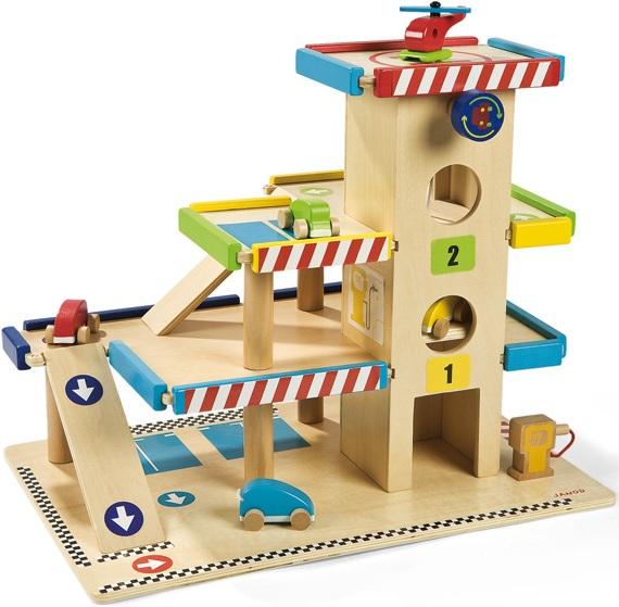 Janod garage en bois garage jouet for Garage en bois en belgique