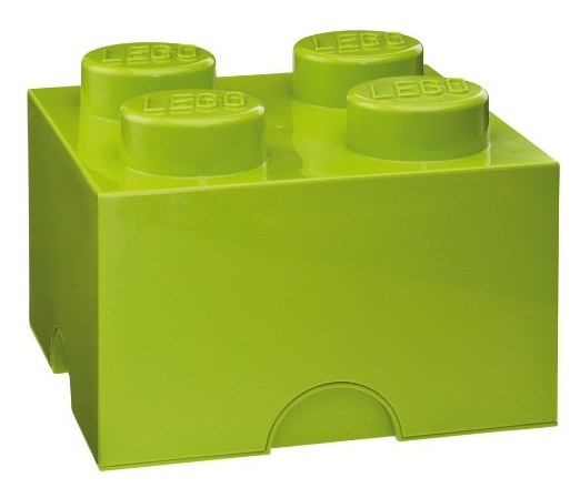 Brique de rangement vert clair 4 plots lego bo te de - Brique de rangement lego ...