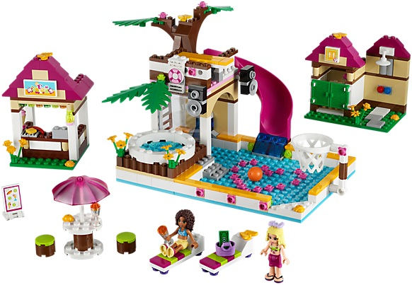 Lego friends lego 41008 piscine lego au meilleur prix for Olivia s garden pool instructions