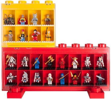 Pr sentoir figurines lego vitrine minifigurines lego 16 cases brique de ran - Caisse de rangement lego ...