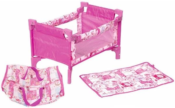 lit de voyage baby born lit poupon et table langer jouet lit parapluie poup e. Black Bedroom Furniture Sets. Home Design Ideas