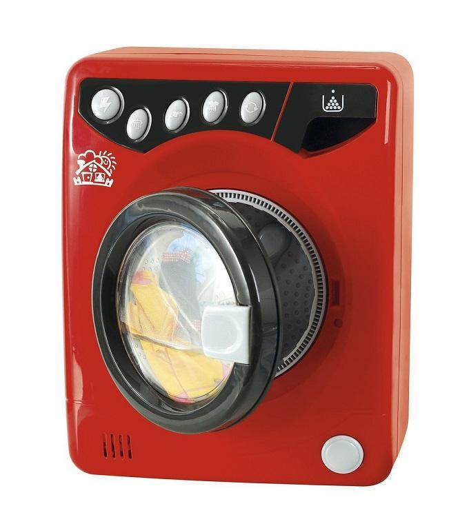 Jouet machine laver r aliste rouge univers m nage enfant - Machine a laver le linge moderne ...