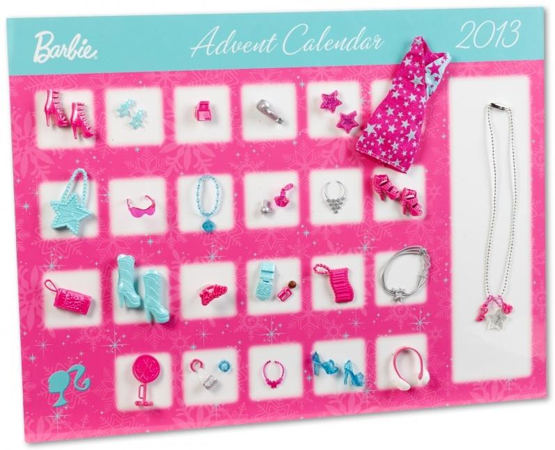 calendrier de l avent barbie mattel y7502 no l 2013 habit. Black Bedroom Furniture Sets. Home Design Ideas