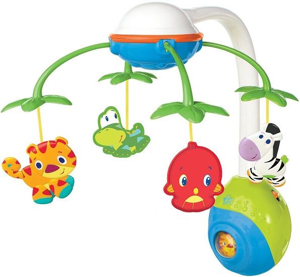 mobile animaux jungle musical b b jouet veil cadeau naissance. Black Bedroom Furniture Sets. Home Design Ideas