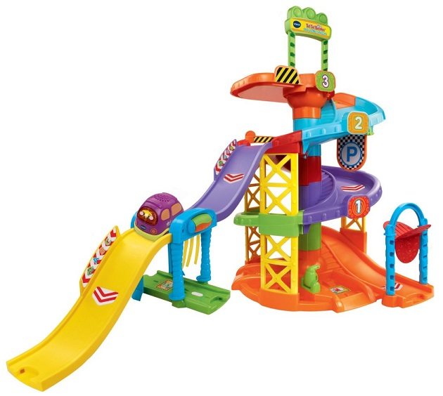 Tut tut bolides mon parking toboggan et mini van vtech - Garage educatif tut tut bolides rose ...